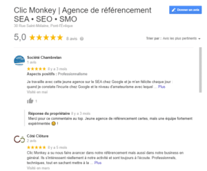 clic- monkey google my business avis