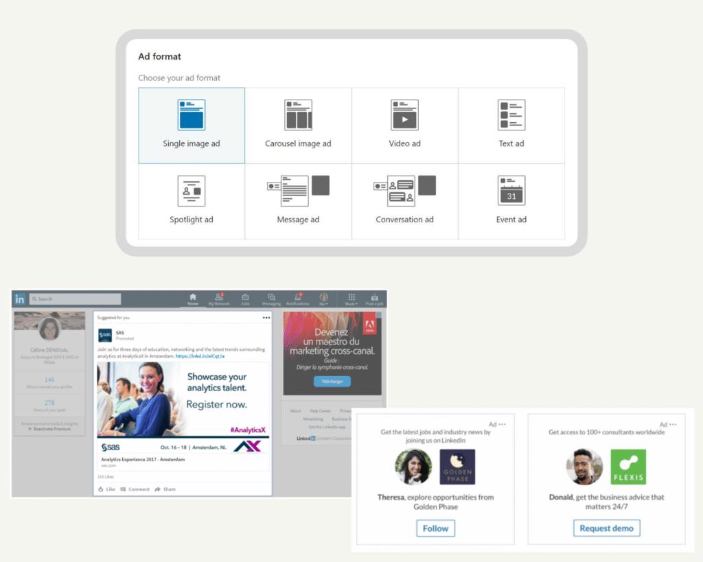 formats publicité Linkedin